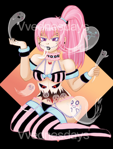 Detailed Full Body with background + Print