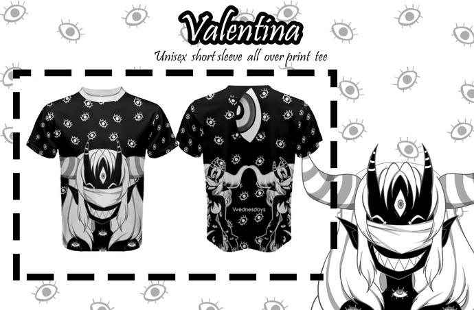 Valentina Eyeballs Unisex All over Short Sleeve Shirt
