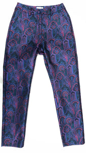 Everybody's Talkin' Paisley Brocade Cigarette Pant