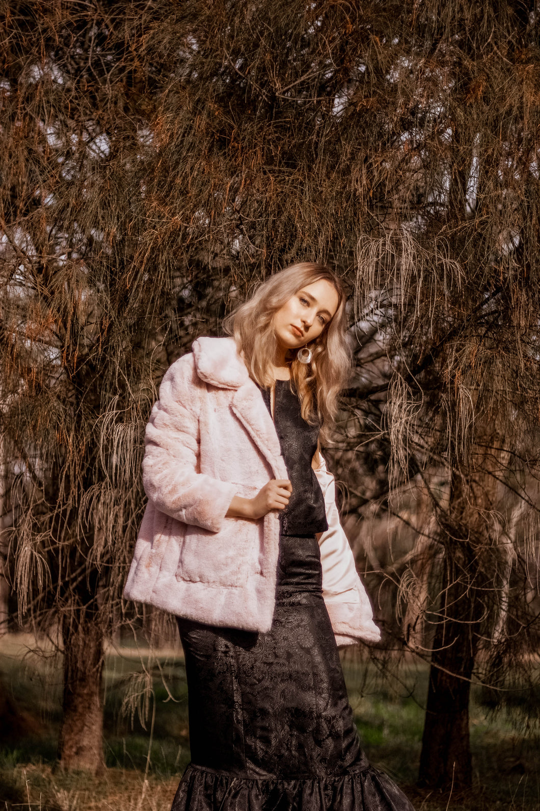 Almost Famous Faux Fur Jacket Coat