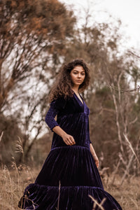 Little Lover Silk Velvet Maxi Dress