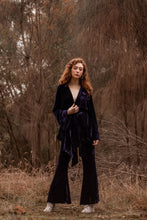 Load image into Gallery viewer, Little Lover Silk Velvet Flared Sleeve Kimono Jacket