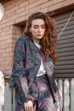 Load image into Gallery viewer, Everybody's Talkin' Paisley Brocade Bomber Jacket