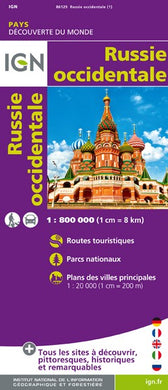 RUSSIE OCCIDENTALE. CARTE ROUTIERE