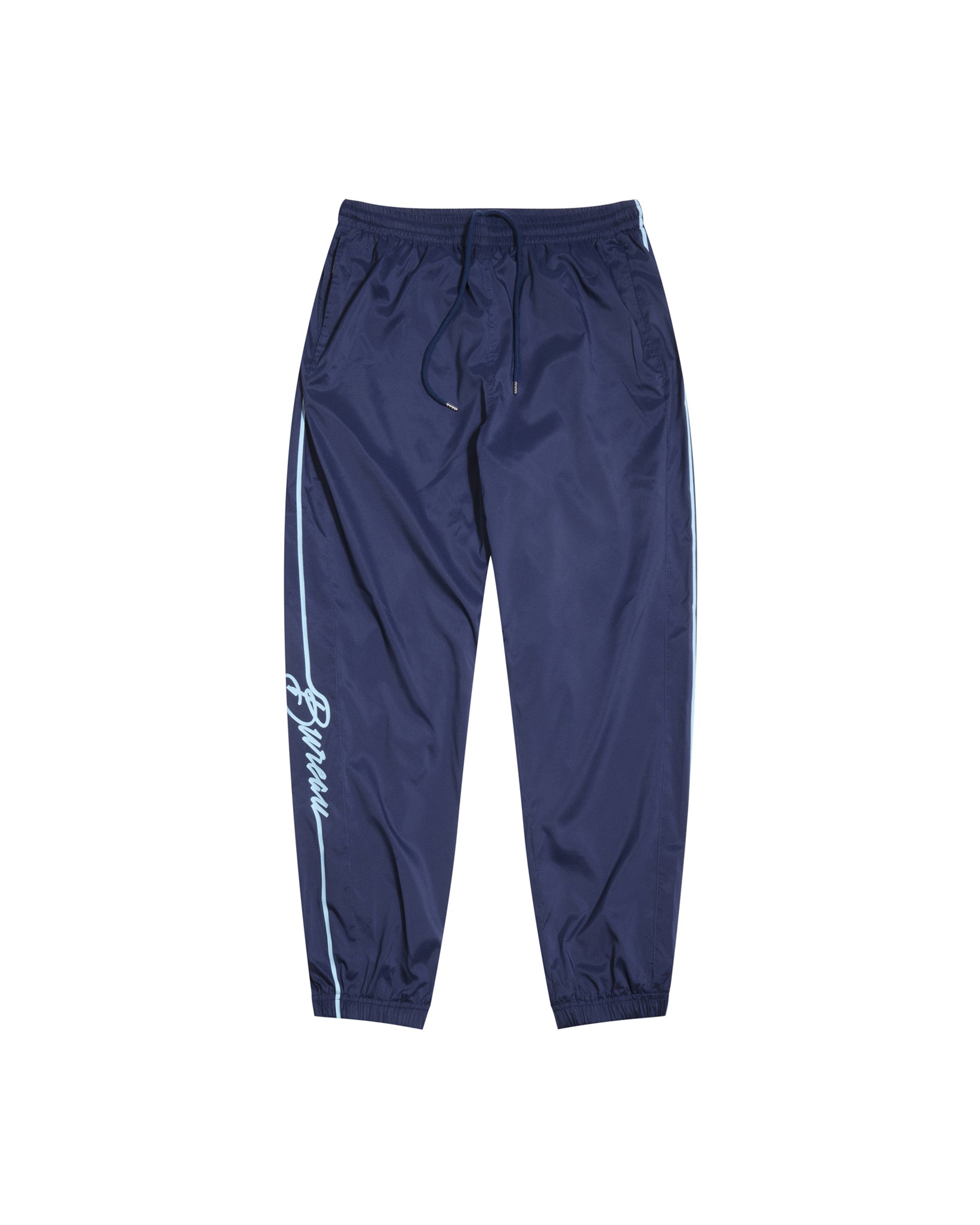 Navy Blue Relaxed Fit Men's Track Pants