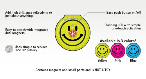 Vizlet LED Mini Smiley 2-Pack