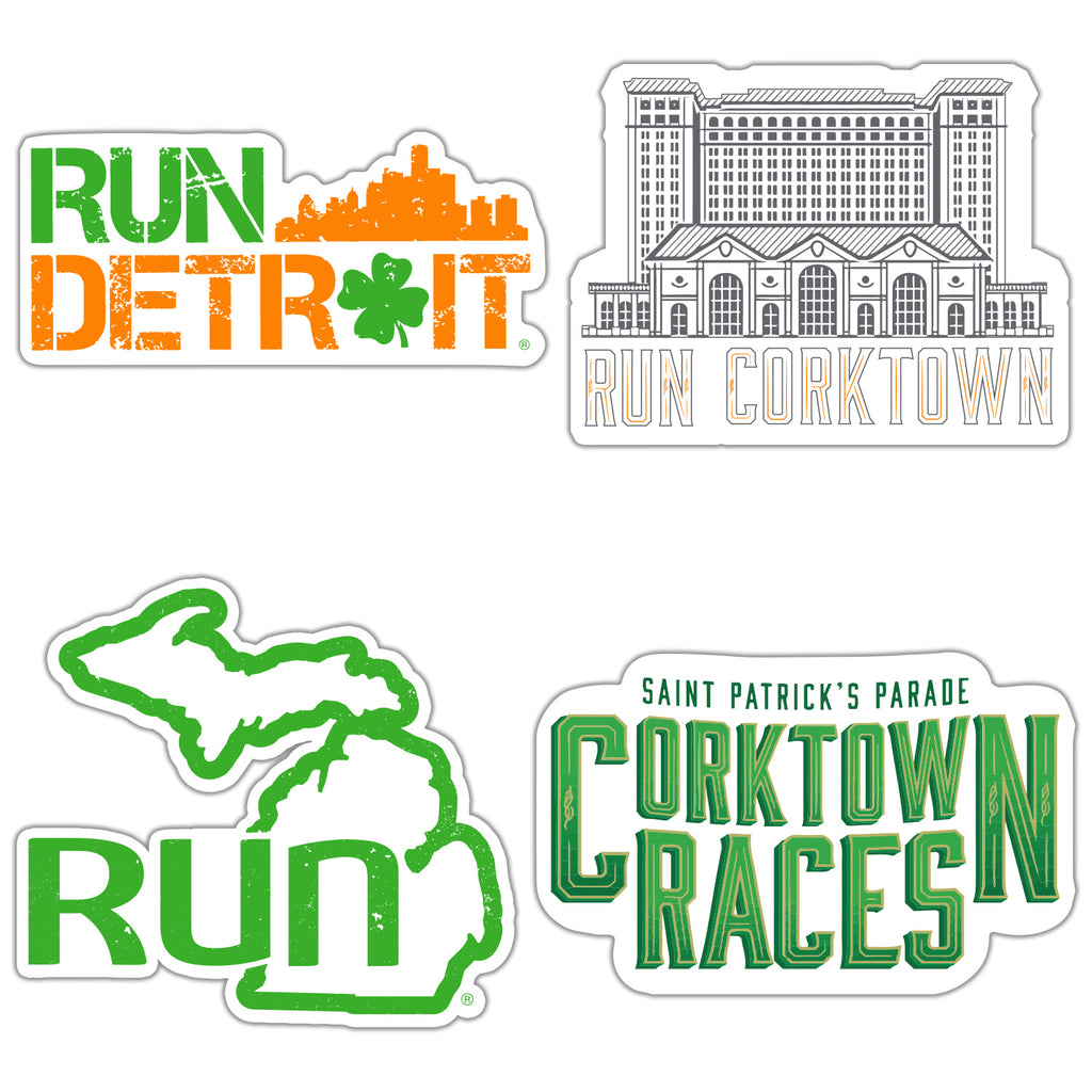 Corktown Races Sticker 4-Pack