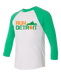 Run Detroit Raglan