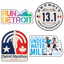 Detroit Sticker 4-Pack (13.1 or 26.2)