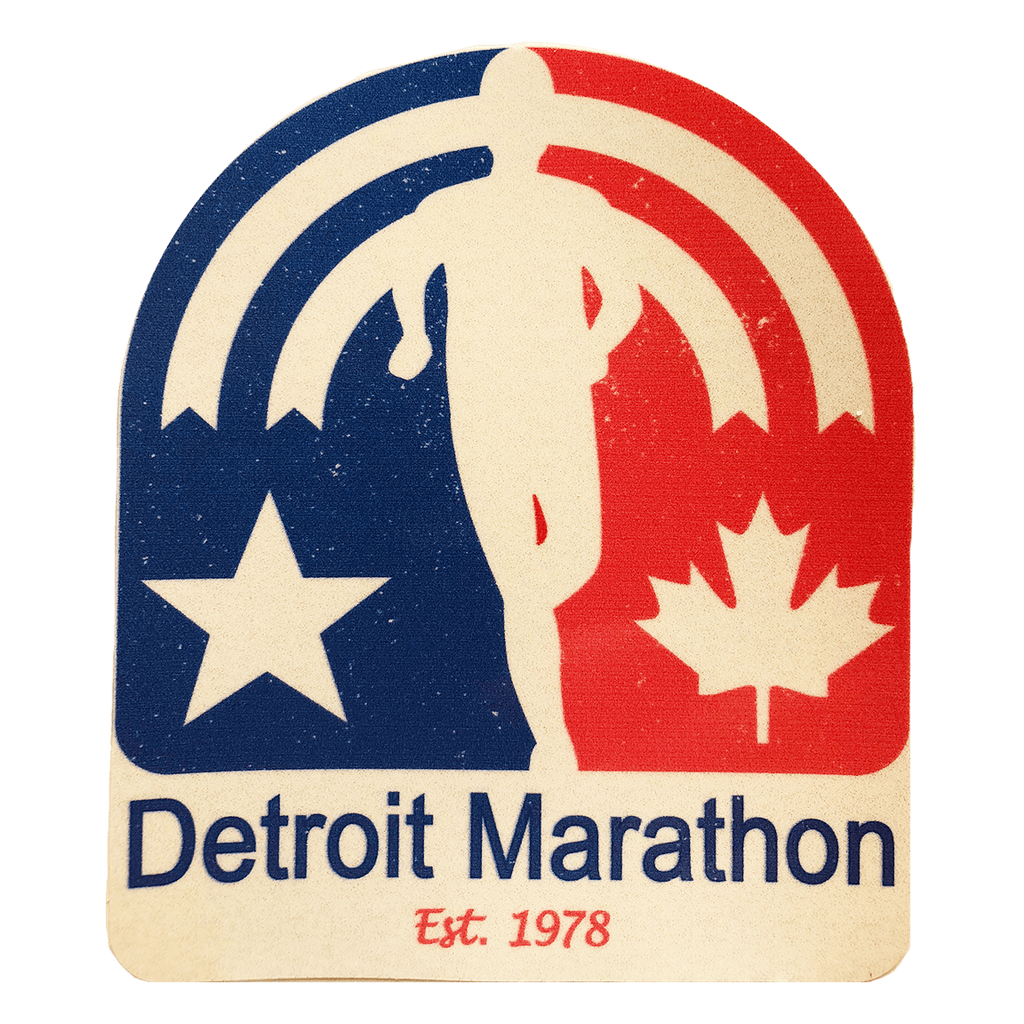 Detroit Marathon Retro Sticker