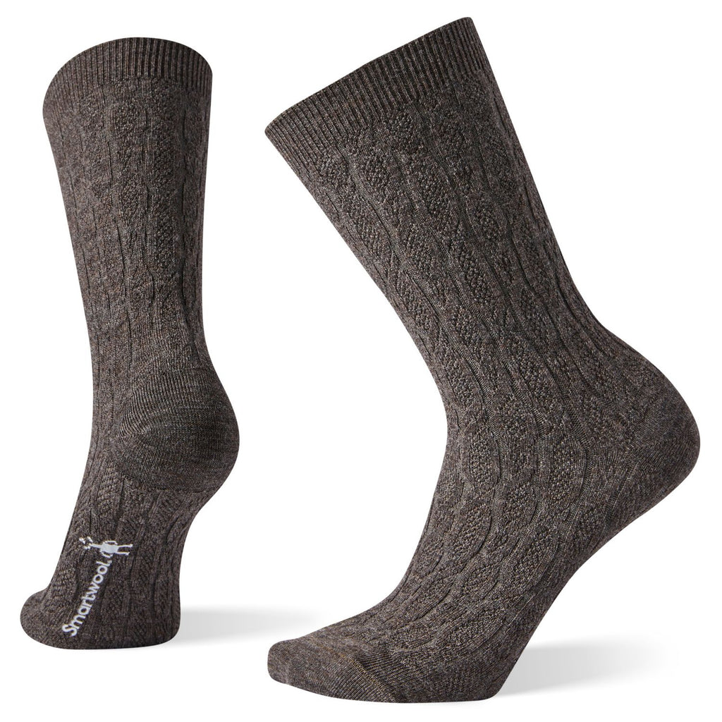 Chain Link Cable Crew Socks