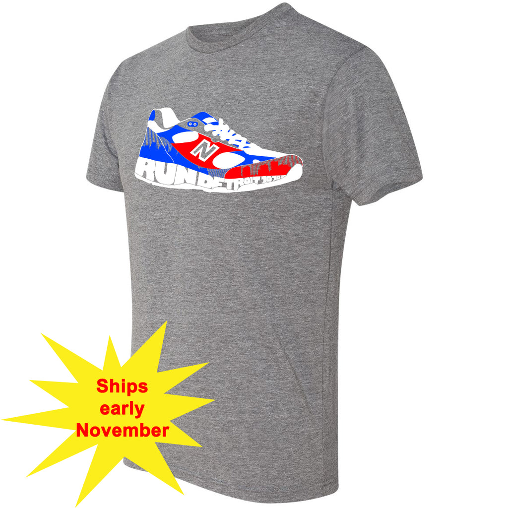 Run Detroit New Balance Shoe Graphic Short Sleeve