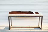 Cow-skin bench