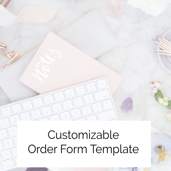 Order Form Template - Customizable
