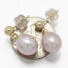 Load image into Gallery viewer, 1000014-Lavender-Cultured-Pearl-Dangle-Earrings-14k-Yellow-Gold
