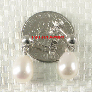 1000015-14k-White-Solid-Gold-White-Pearl-Dangle-Stud-Earrings