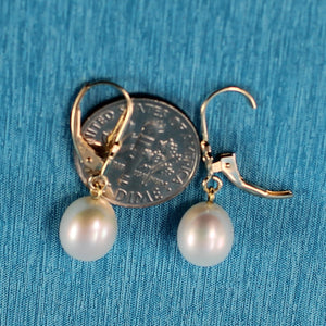 1000020-Gold-Leverback-Genuine-White-Cultured-Pearl-Dangle-Earrings