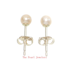 Load image into Gallery viewer, AAA 3.5mm High Luster Peach Cultured Pearl Stud Earrings Set 14k Yellow Gold