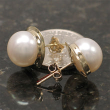 Load image into Gallery viewer, 1000390-14k-Gold-Genuine-White-Cultured-Pearl-Stud-Earrings