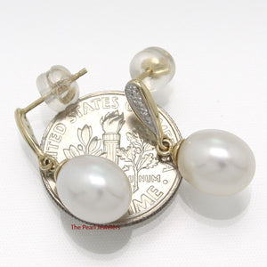 1000560-14k-Yellow-Gold-Diamonds-White-Cultured-Pearl-Dangle-Stud-Earrings