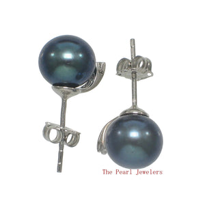 14k-White-Gold-Diamond-Black-Cultured-Pearl-Stud-Earrings