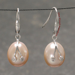 14k-White-Gold-Diamond-Genuine-Pink-Freshwater-Pearl-Hook-Earrings