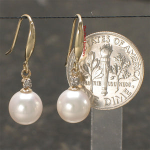 14k-Yellow-Gold-Diamond-White-Round-Cultured-Pearl-Hook-Earrings