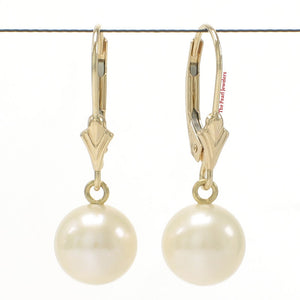 14k-Yellow-Gold-Leverback-Genuine-White-Cultured-Pearl-Dangle-Earrings