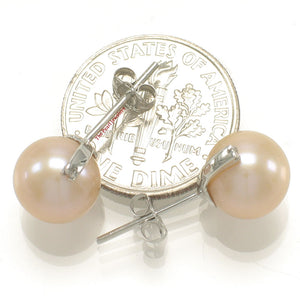 14k-White-Gold-AAA-Peach-Cultured-Pearl-Diamond-Stud-Earrings