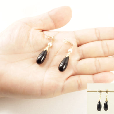 1100231-14KT-YG-Black-Onyx-Drop-Pearl-Oriental-Characters-Dangle-Earrings