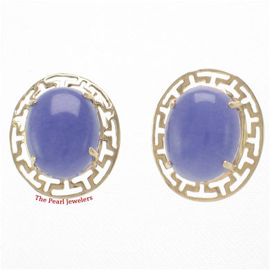 1100632-14k-Yellow-Gold-Greek-Key-Design-Cabochon-Lavender-Jade-Stud-Earrings