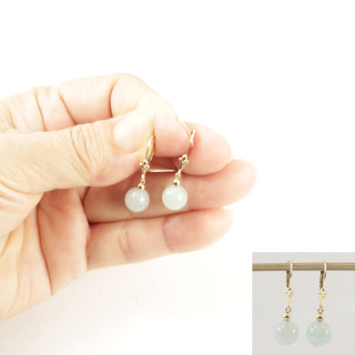 1100833-14K-Yellow-Gold-Leverback-Round-Jade-Drop-Earrings