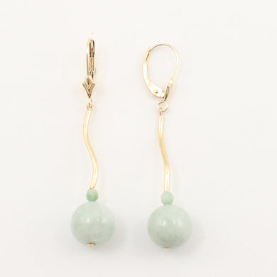 1101043-14K-Yellow-Gold-Jadeite-Dangling-Lever-Back-Earrings