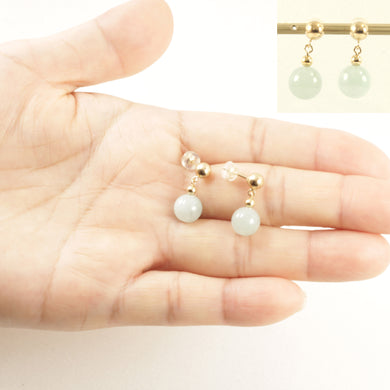 1101164-14k-Solid-Yellow-Gold-5mm-Ball-Dangle-Green-Jade-Stud-Earrings