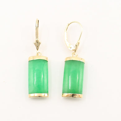 1102023-14k-Yellow-Gold-Green-Curved-Lavender-Jade-Dangle-Earrings