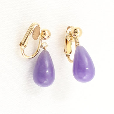 1103132-Pear-Lavender-Jade-Non-Pierced-Clip-Earrings-Gold-Filled