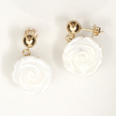 1110260-Mother-of-Pearl-Rose-14K-Yellow-Gold-Earrings