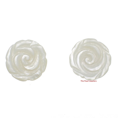 1120460-14k-YG-Hand-Carved-Rose-Genuine-White-Mother-of-Pearl-Earrings