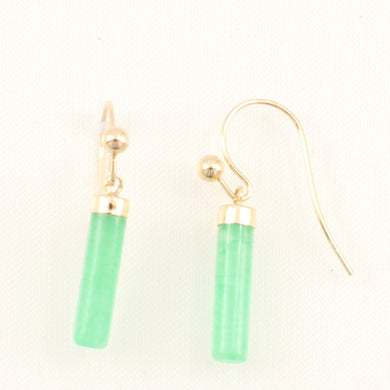 1156703-Green-Jade-14k-Yellow-Gold-Fish-Hook-Dangle-Earrings