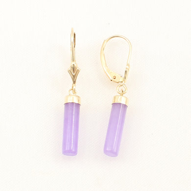 1166702-14k-Yellow-Gold-Leverback-Dangle-Lavender-Jade-Earrings