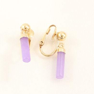 1176702-Non-Pierced-Clip-Lube-Lavender-Jade-Earrings