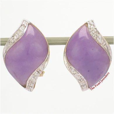 1187502-14k-YG-Omega-Clip-Diamond-S-Cabochon-Lavender-Jade-Earrings