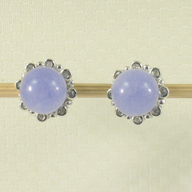 1198657-14k-White-Gold-Diamond-8.5mm-Beads-Lavender-Jade-Stud-Earrings