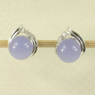 1198677-14k-White-Gold-Unique-Design-Diamond-Lavender-Jade-Stud-Earrings