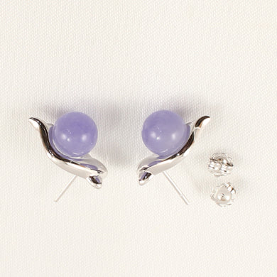 1199837-14k-White-Solid-Gold-Lavender-Jade-Earrings