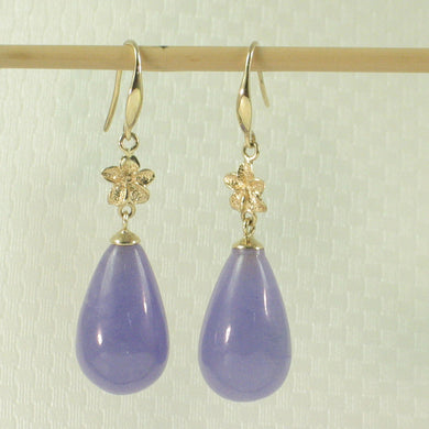1199850-14k-Gold-Hawaiian-Plumeria-Raindrop-Lavender-Jade-Hook-Earrings