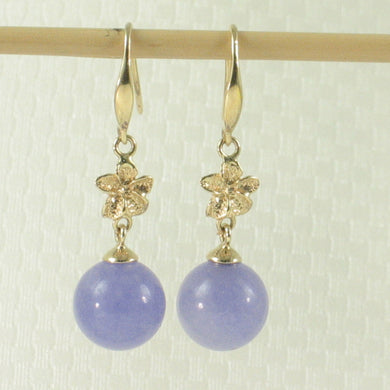 1199852-14k-Gold-Hawaiian-Plumeria-Bead-Lavender-Jade-Hook-Earrings