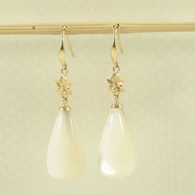 1199854-14k-Yellow-Gold-Hawaiian-Plumeria-White-Mother-of-Pearl-Hook-Earrings