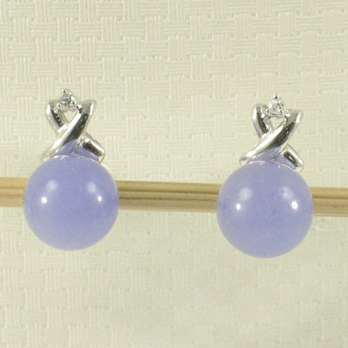 1199887-14k-Gold-X-Design-Diamond-8mm-Lavender-Jade-Stud-Earrings