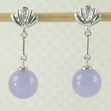 1199932-14k-WG-Diamond-8mm-Beads-Lavender-Jade-Dangle-Earrings